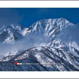 厳冬の白馬杓子岳