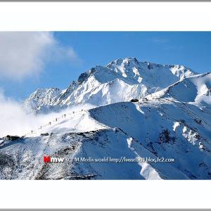 冬の八方尾根と五竜岳