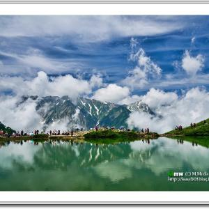 沸き立つ雲と八方池