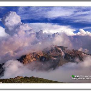 積乱雲と白馬連峰
