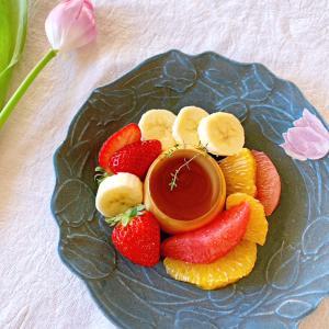 チューリップのお皿☆よしざわ窯/益子焼