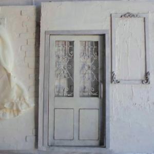 1/6 ドールハウス ミニチュア ホワイトクリスマス シャビーシック 白い部屋 ヤフオク出品中
