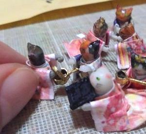 ミニチュア 猫雛製作中~大好きなミニミニお道具作りと収納箱製作開始!