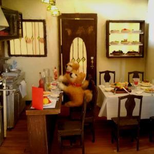 ドールハウス ミニチュア 洋食屋 グリル さくら とショーケース ヤフオク今夜終了!最後の撮影会