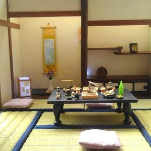 和風ドールハウス 十五夜 お月見の和室(床の間 縁側、電飾付き)ヤフオク出品中!