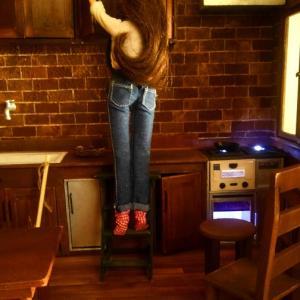 1/6scale ドールハウス キッチン ハロウィンver 制作中~大好きな小物製作start!
