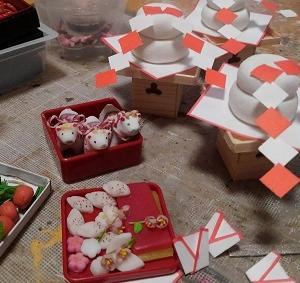 ミニチュア 1/6scale お正月 お節料理製作中~パーツのベースを作り復活だっ