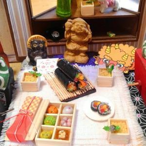 ミニチュア 節分飾り 福豆 恵方巻 和菓子 1/6scale ヤフオク本日夜終了~最後の撮影会