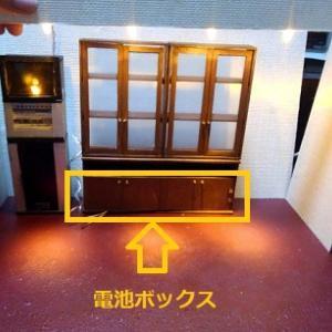 ドールハウス ミニチュア 昭和 レトロ カラオケスナック製作中~悩みまくった接着箇所。
