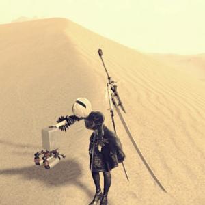 【ニーアオートマタ】③砂漠~マンモス団地「自身の義体の回収」