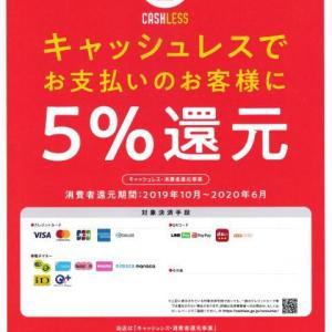 キャッシュレス・消費者還元事業対象決済手段登録完了!