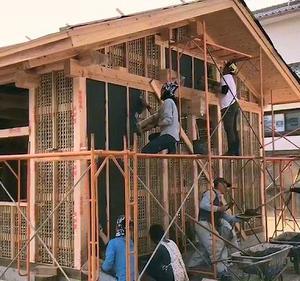 土壁の家の楽しみその一:  家づくりをすまい手に取りどす。