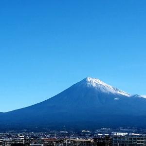 富士の高嶺に結構雪が降った