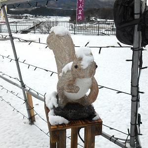 群馬県高山村 「雪が降りました」