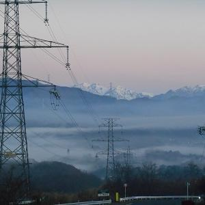 群馬県高山村 朝霧の様子