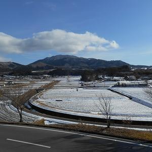 群馬県高山村 雪が降っています