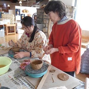 道の駅「中山盆地」で陶芸教室が開催されました‼