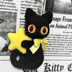 手乗りサイズ黒猫とお星さま☆