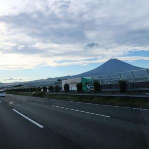 富士山と夕陽眺めながら現地着