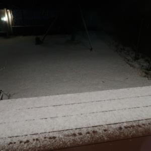 真夜中の降雪・積雪。朝起きたら?