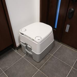キャンカーのトイレ準備も久しぶり(笑)