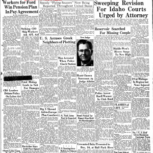 ケネス・アーノルドの円盤目撃(1947年)以後も円盤は飛んでいた!アイダホ州の新聞