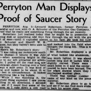 テキサス円盤墜落・破片回収事件 7月25日 1947年