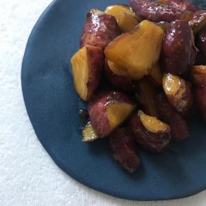 【レシピ】さつま芋のバター醤油煮とお芋チップス