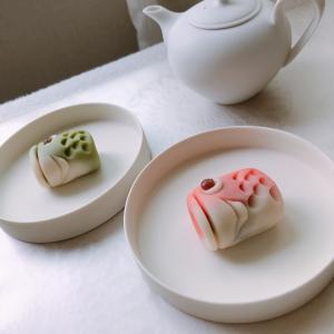 鯉のぼりの練り切り和菓子