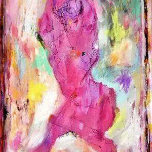 裸婦クロッキー着彩篇。
