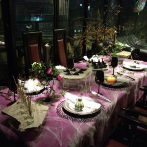 ハロウィンメニューとテーブルコーディネート