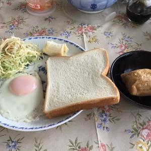 今朝のパンは5枚切り