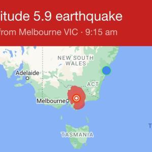 メルボルンの地震