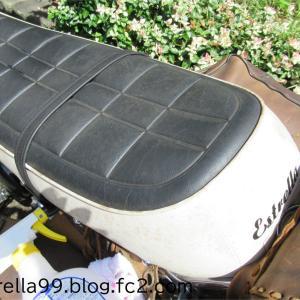エストレヤのプラグ&エアフィルタ交換とシート掃除