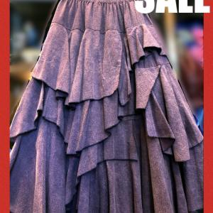 SALE NAI99ヒラヒラアシンメトリースカート