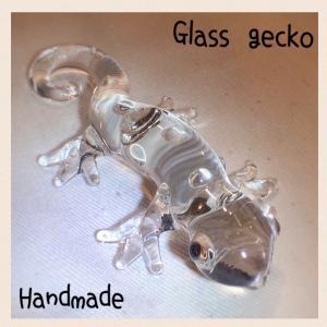 ハンドメイド ガラスのヤモリ(トカゲ)