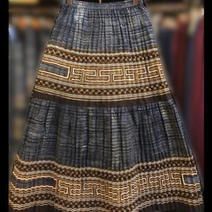モン族古布ティアードスカート