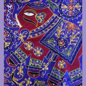 India刺繍とスパンコールの豪華タペストリー
