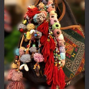 モン族装飾バッグチャーム