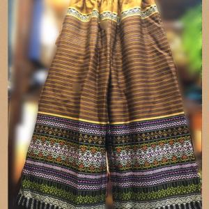タイ刺繍リメイクイージーパンツ