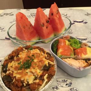 焼きトマトパスタのお弁当