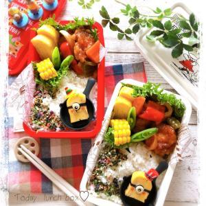 卵焼きでミニオン弁当~JK姉妹のお弁当♪