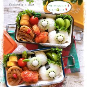 9月1日☆キウイの日弁当~JK姉妹のおべんとう♪