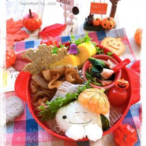 かぼちゃ被ったスヌーピー弁当~女子中学生のおべんとう♪