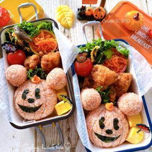 かぼちゃミッキー弁当~JK姉妹のおべんとう♪
