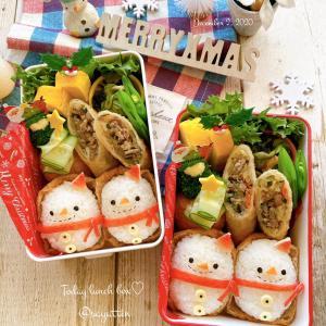 デコ稲荷☆スノーマンクリスマス弁当~JK姉妹のおべんとう♪