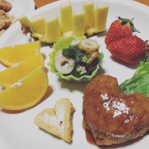 2月8日の朝ごはんとフルーツポンチ(*´ω`*)