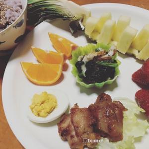 2月18日、19日の朝ごはんとフルーツポンチ(*´ω`*)