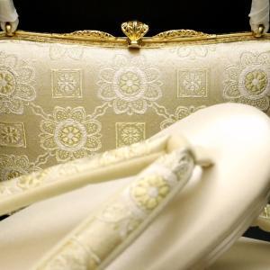 礼装用正絹和装バッグ草履セット2020|格調高い蜀江華文様|結婚披露宴、パーティー、留袖、訪問着