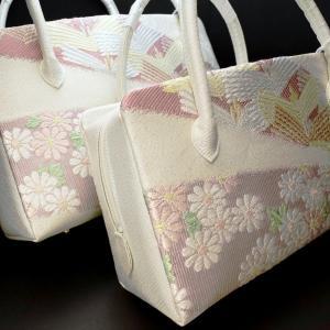 準礼装用和装バッグ2020|利休バッグ八寸/九寸|松、菊、流水、紗綾形、正絹帯地使用のオリジナル
